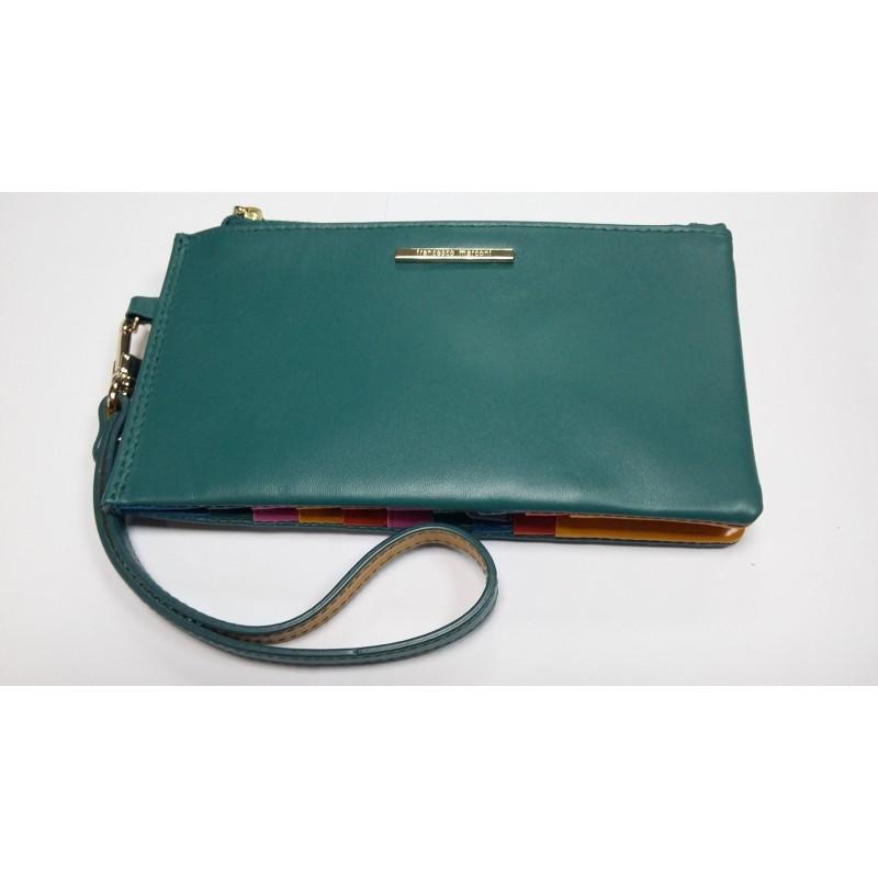 Женская кредитница Francesco Marconi зеленого цвета на ремешке FM-60563  - фото 1